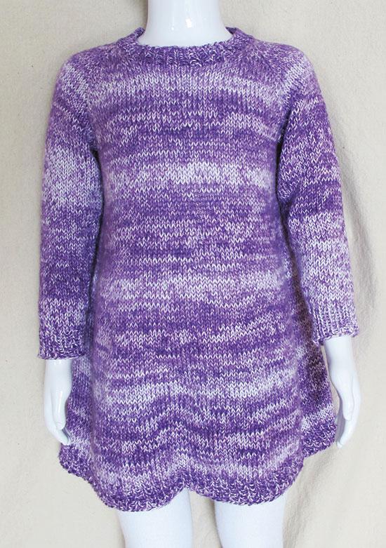 KPS 1701 Girl's A- line Dress