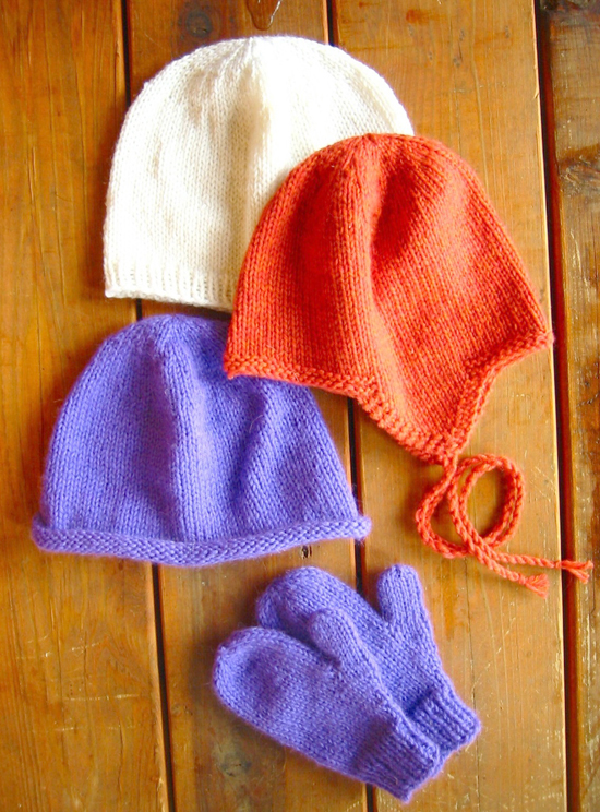 KPS 253 Basic Hat and Mitten Set - for Children