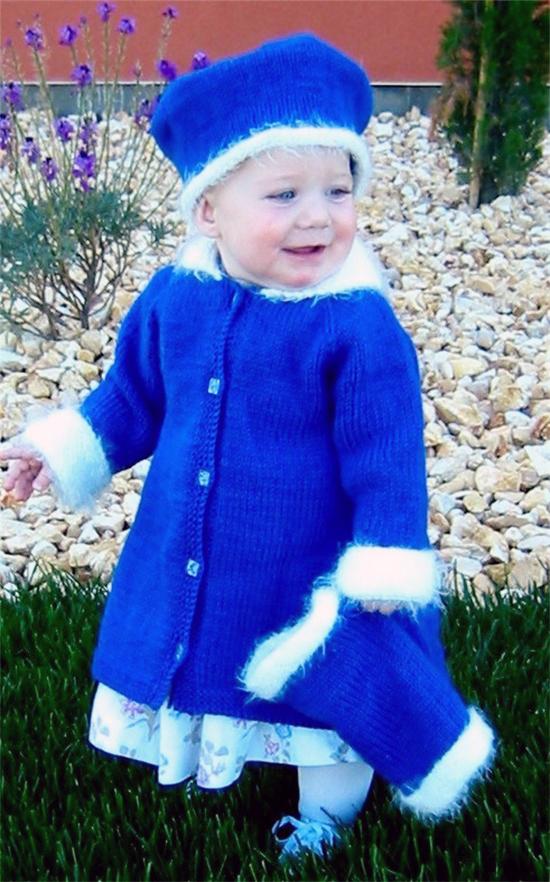 KPS 254 Little Girl's Dress Coat Set