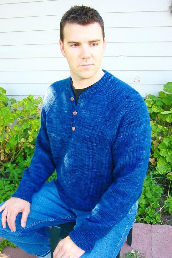 KPS 255 Henley Neck Down Pullover for Men