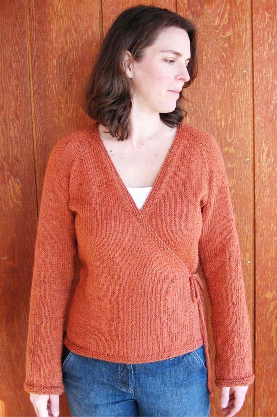 KPS 263 Neck Down Wrap Cardigan