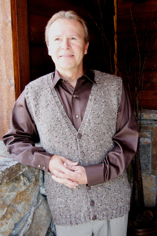 KPS 276 Basic Cardigan Vest for Men