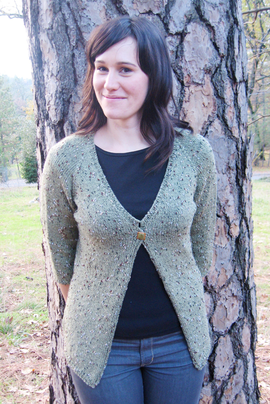 KPS 292 Neck Down One Button Cardigan