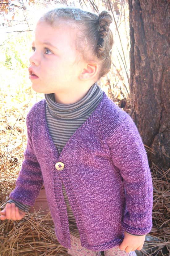 KPS 296 Girl's One Button Cardigan