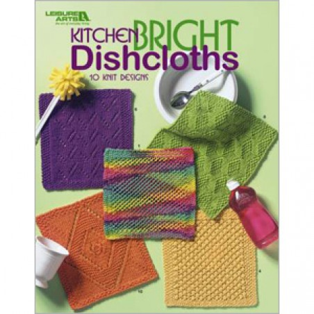 BK KN Leisure Arts Kitchen Bright Dishcloths 10 Knit Designs