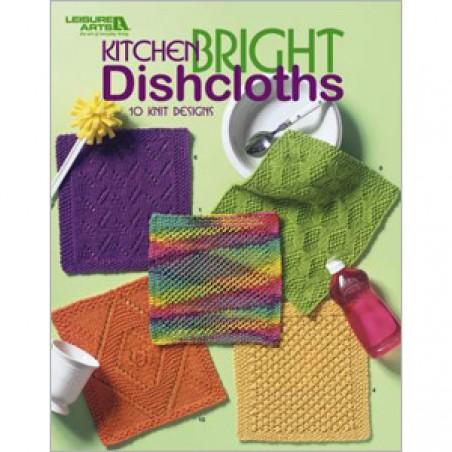 BK KN Leisure Arts Kitchen Bright Dishcloths 10 Knit Designs