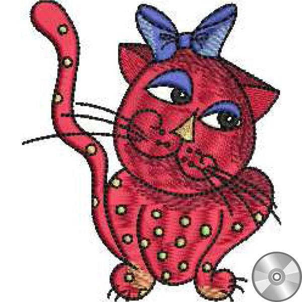 Pattern Cool Cats Machine Embroidery CD