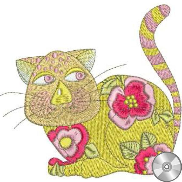Calico Cats 1 (embroidery CD)