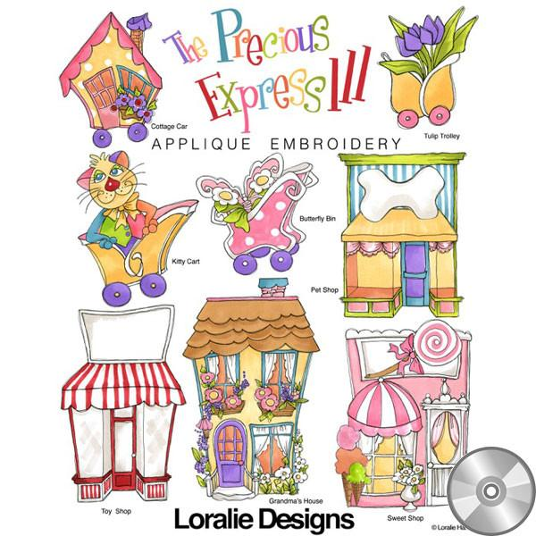 The Precious Express 3 Machine Embroidery Design Collection | Compact Disc