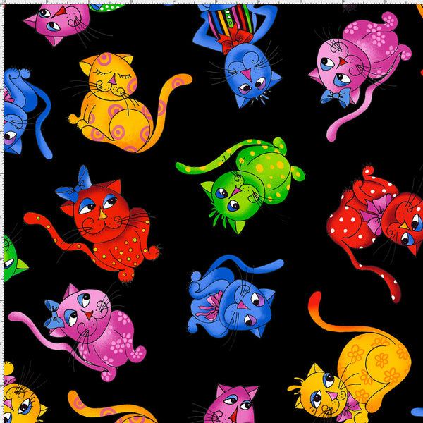 Cool Cats - Tossed Cats<br>691-792 - Black