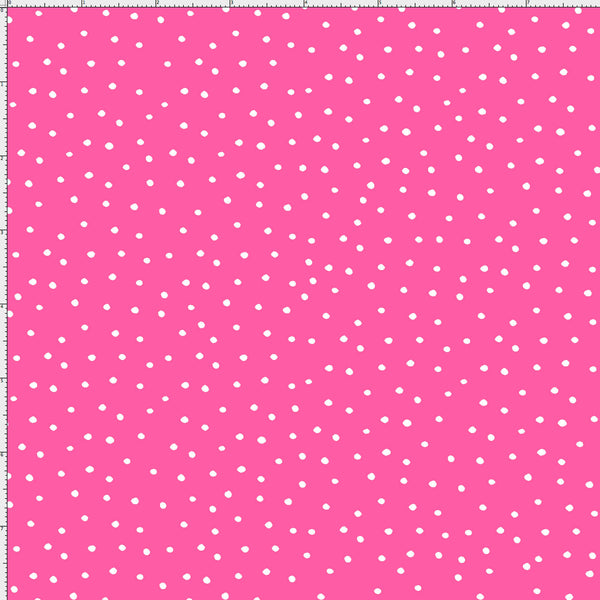 Loralie Designs Fabric: Dinky Dots Bright Pink