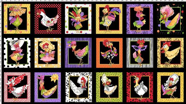 Chicken Chique Portrait Fabric Panel (P10732)