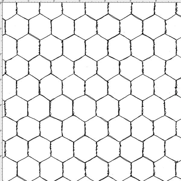 Wire White Fabric