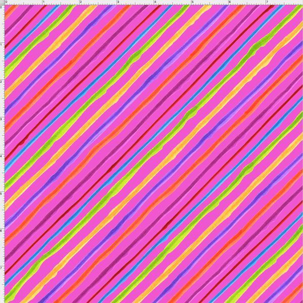 Calico Stripe Pink