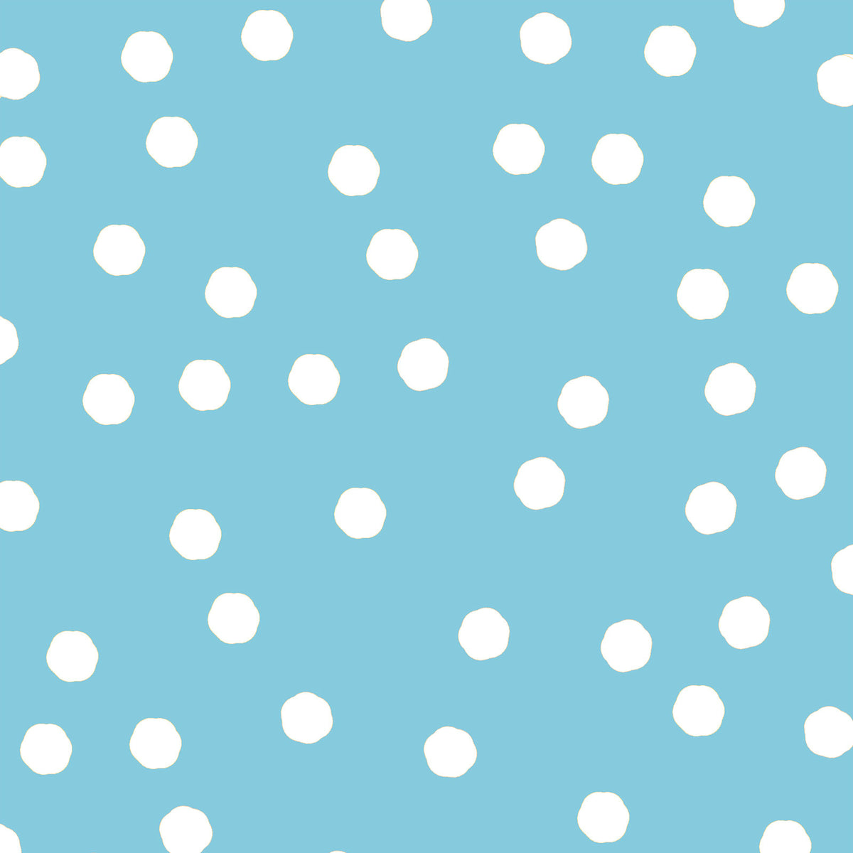 Jumbo Dots Turquoise / White Fabric Yard