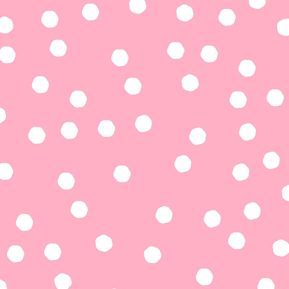 Jumbo Dots Pink / White Fabric Yard