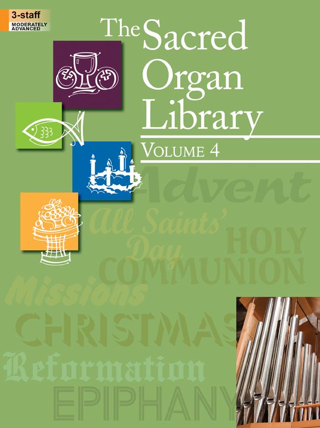 SACRED ORGAN LIBRARY 4 (702150L ) (Organ Folios )