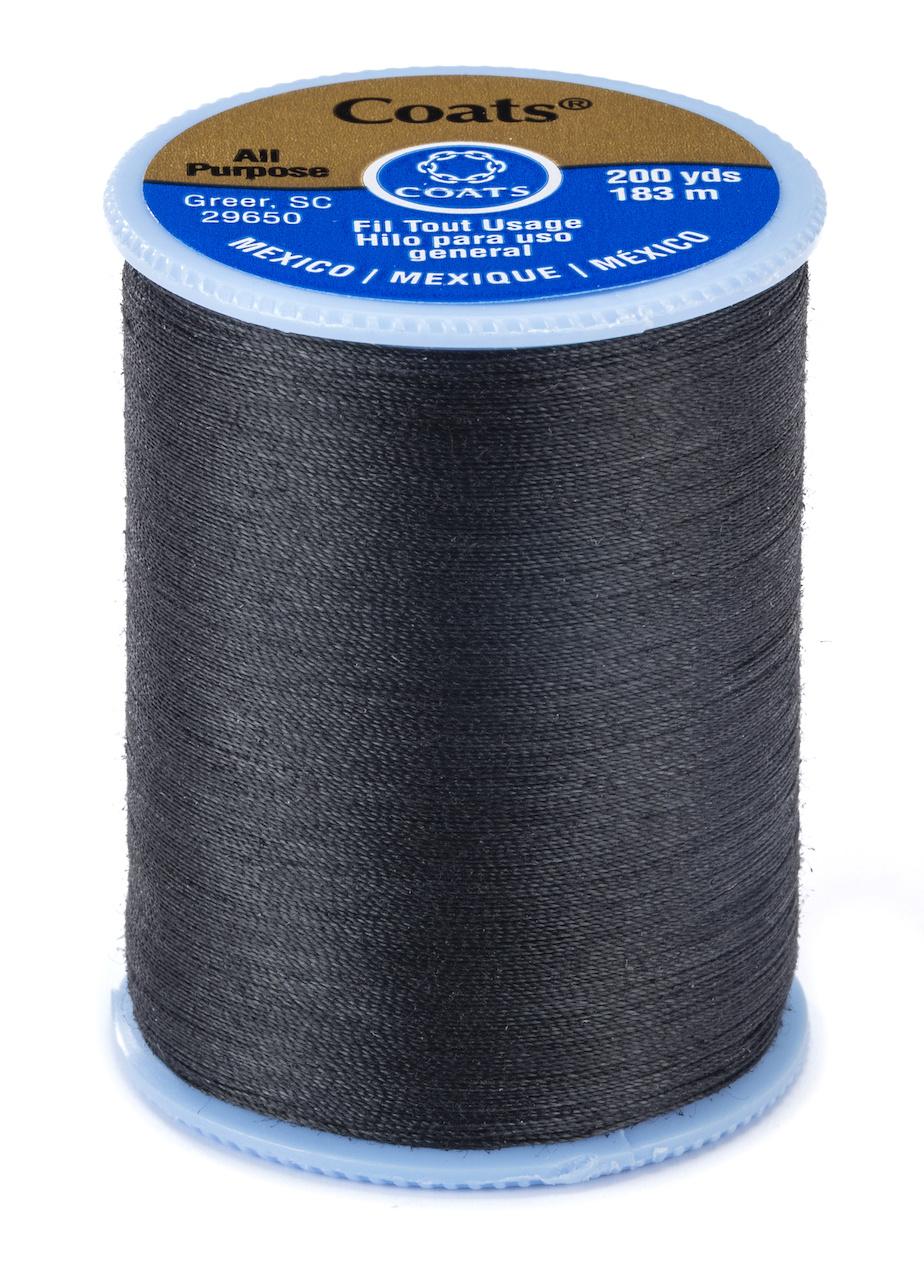 Coats & Clark All Purpose Thread - 400 yds  Black