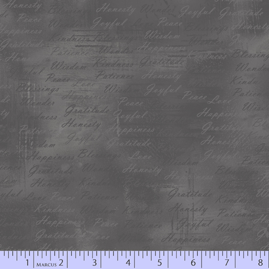 Soulful Shades dark gray marble w/writing