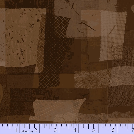 MARCUS- Scrap Heap Brown Shaded Rectangles