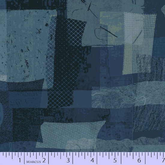 MARCUS- Scrap Heap Blue Grey Shaded Rectangles