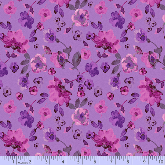 R15 Night Riviera 0597 1035 Dancing Florals Purple