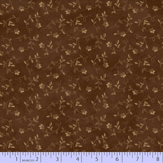 Cheddar & Chocolate - Brown Twisting Flowers