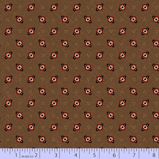 Cheddar & Chocolate - Brown Hexie Diamonds (3/4 yard)