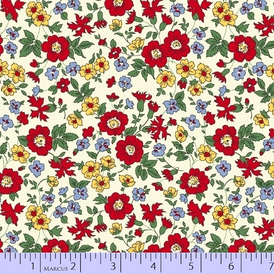 Quilt Back 108 in. red floral