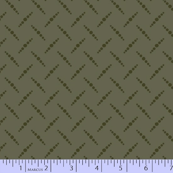 Dark Olive Dot Pattern on Light Olive Green:  San Mateo by Nancy Rink Designs for Marcus Fabrics