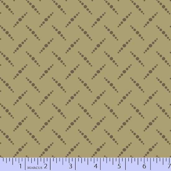 Olive Greeen Dot Pattern on Very Light Olive Green:  San Mateo by Nancy Rink Designs for Marcus Fabrics