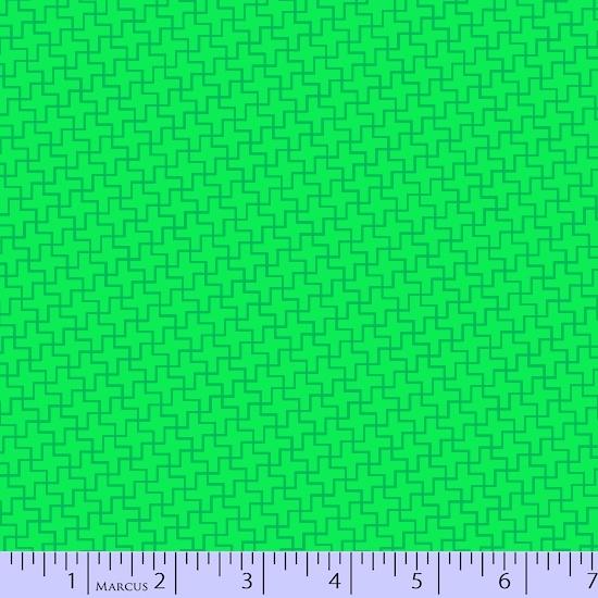 Lime Green Geometric