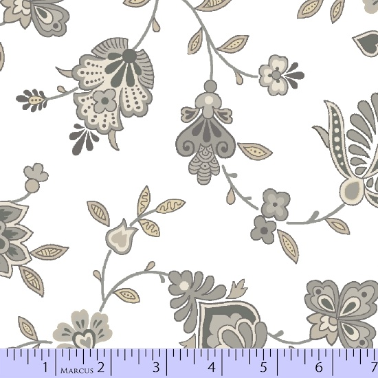 Special Edition Large Floral on White