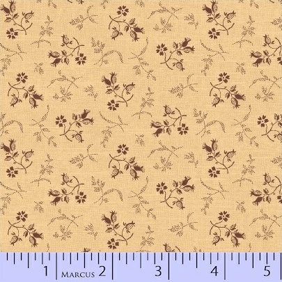 PRIMITIVE THREADS CREAM WITH BROWN SMALL PRINT R17-8278-0142