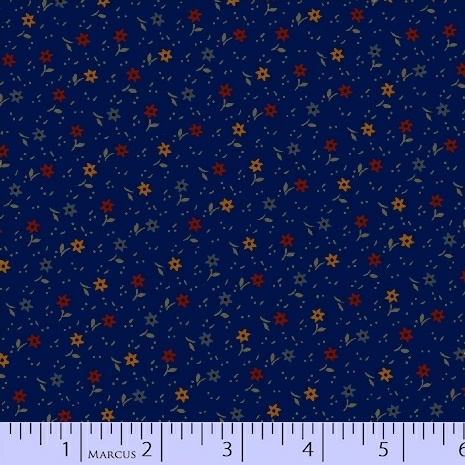 PRIMITIVE THREADS NAVY WITH SMAPRIMITIVE THREADS NAVY WITH SMALL FLOWERS R17-8283-0150LL FLOWERS R17-8283-0150