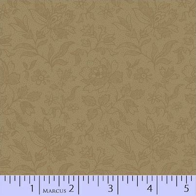 PRIMITIVE THREADS DARK TAN WITH SMALL PRINT R17-8287-0190