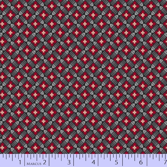 Fabric - BH Red on Point Reproduction fabric