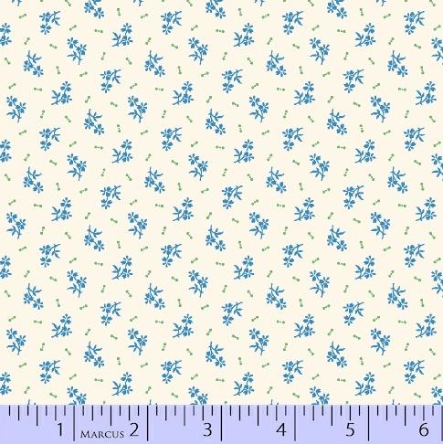 Aunt Grace Backgrounds - Blue Flowers -