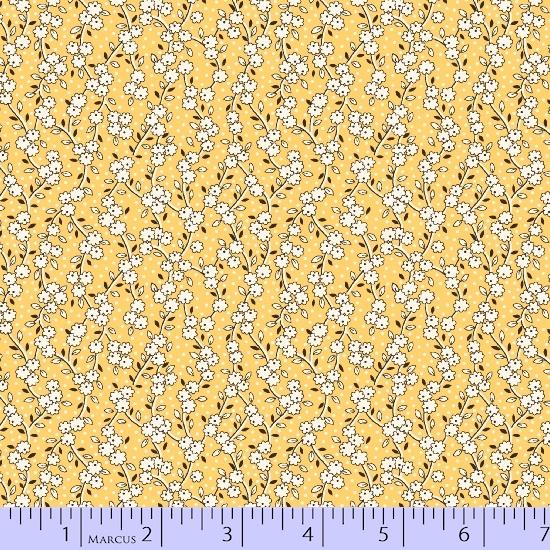 Aunt Grace's Flower Pots R35 8450-0533 Yellow Vining Flowers