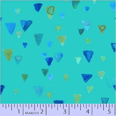 Sea Glass Aqua Triangles