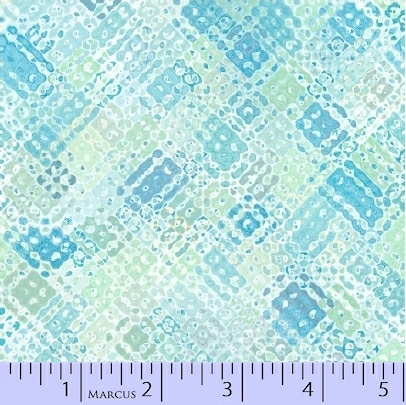 SEA GLASS BY NANCY RINK WHITE W/ TEAL & LT. GREEN TEXTURE 9855-0122