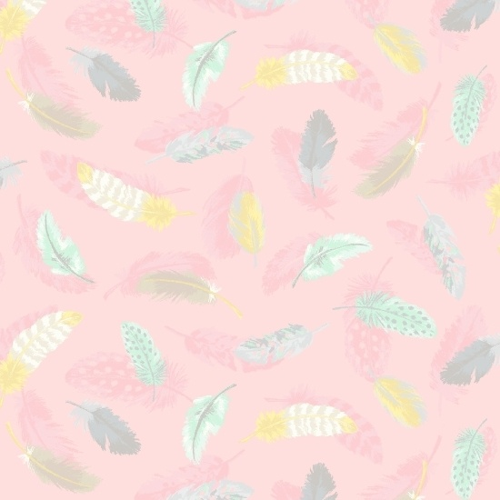 Songbook Flannel Little Star Feathers A/O Pink