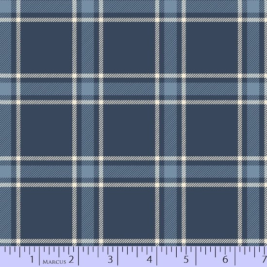 Primo Plaid Flannel Medium Blue Large Block