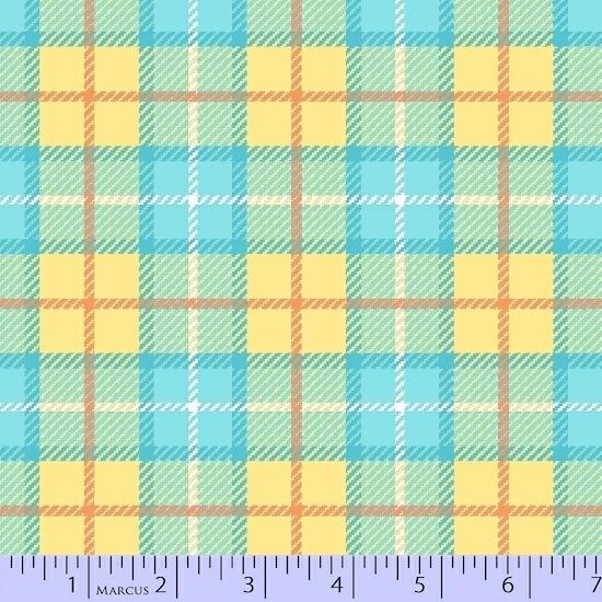 Plaid Flannels - Yellow/Turq.