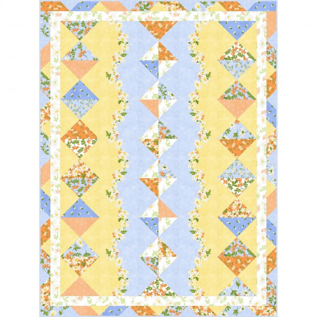 Quilt Kit - Fresh as a Daisy - 48.5in x 64.5in