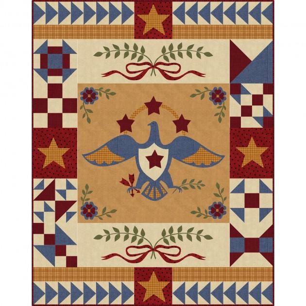 The Quilt Factory - Sweet Liberty Precut Applique Quilt KIT - Flannel - MASSWE-PC