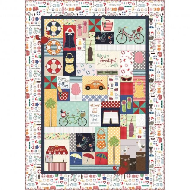 Vintage Boardwalk Quilt Kit - Embroidery Version