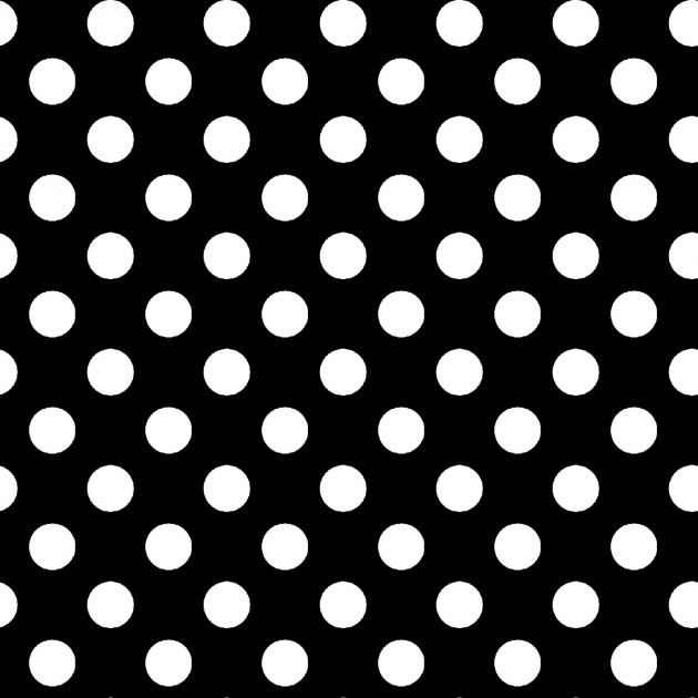 KIMBERBELL BASICS POLKA DOT BLACK/WHITE
