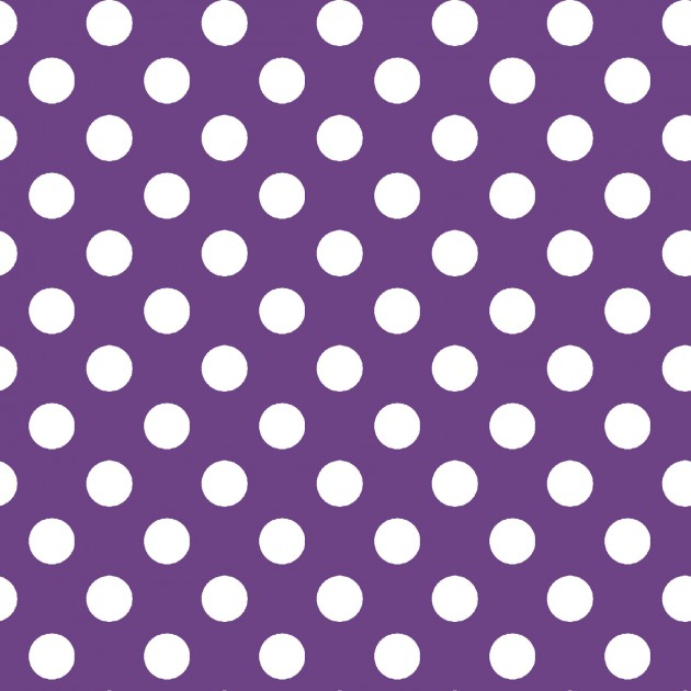 Dark Purple with Large White Dots