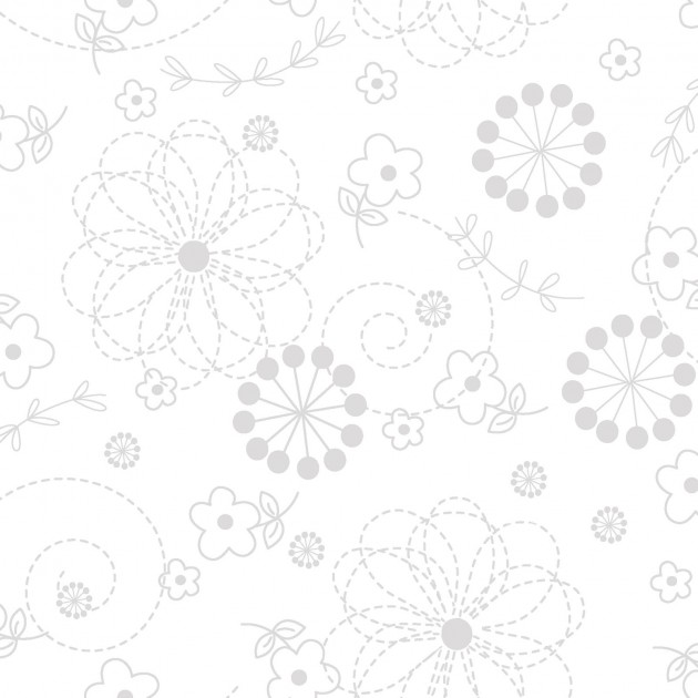 White floral KimberBell Whites by Maywood Studios